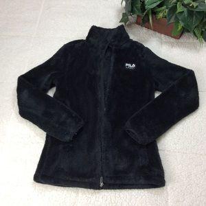 Fila Black Women's Long Sleeve Jacket Sz XS